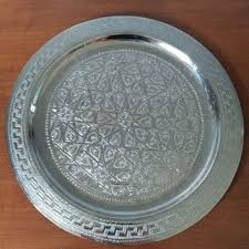 engraved silver platter shop moroccan tray on wanelo