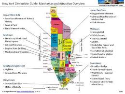 new york city tourist map with neighborhoods and attractions nyc
