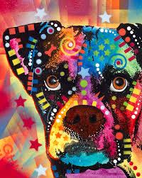 boxer dog art boxer cubism canvas print canvas art by dean russo