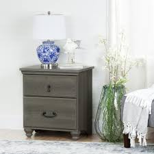 Nightstand With Charging Station by South Shore Versa 2 Drawer Nightstand In Gray Maple 10556 The