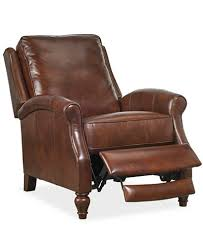 leeah leather pushback recliner furniture macy u0027s