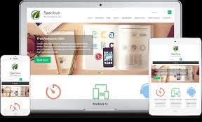 cara membuat background di blog wordpress spacious free responsive business wordpress theme 2018