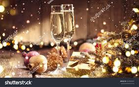 christmas new year celebration champagne new stock photo 524049496