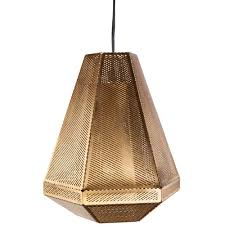 Wicker Pendant Light by Diamond Copper Pendant Lamp Modernist Lighting