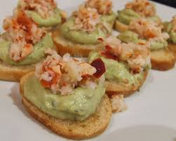 what does canape my big kitchen lobster guacamole canape