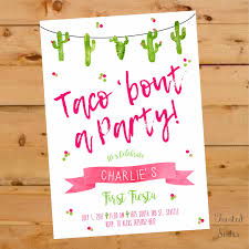 21st Birthday Invitation Cards Taco Bout A Party Invitation Taco Bout A Party Invite Fiesta