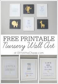 cheap printable wall art free printable nursery wall art erin spain