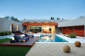 house with pool small modern house with pool homes floor plans