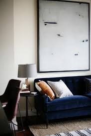 deep blue velvet sofa cool down your design with blue velvet furniture hgtv s decorating