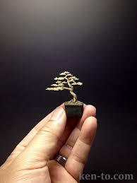small gold wire bonsai tree by ken to by kentoart on deviantart