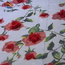 style flower latest style flower fabric sequence 3d lace fabric tulle embroidery