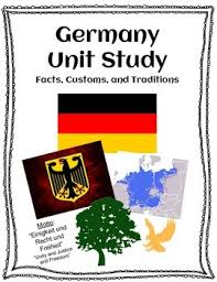 germany unit study facts customs and traditions map