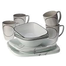 corelle square 16pc dinnerware set simple lines target