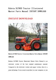 kubota b1700 d tractor illustrated master parts manual instant downlo u2026