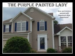 What Is The Best Gray Blue Paint Color For Outside Shutters Napoleonic Blue The Purple Painted Lady