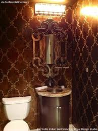 bathroom stencil ideas 10 bathroom makeover ideas using stencils boring bathroom be gone