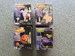 image lot of 4 giant gemmy 8 ft halloween ghost pumpkin airblown