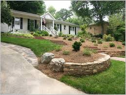 Landscaping Ideas For Sloped Backyard Triyae Com U003d Pictures Of Sloped Backyard Landscaping Ideas
