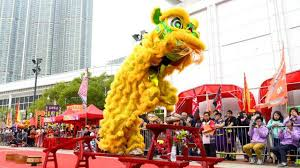 lion dancer book kong new year lion