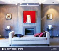 Baby Blue Cushions Living Room Slate Grey Coloured Walls Light Grey Daybed Pink And
