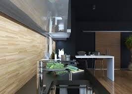 modern black kitchens beautiful kitchens black kitchen interior with a touch of nature