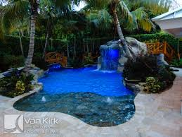 rock waterfall slide lazy river palm beach county van kirk pools
