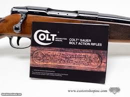 colt sauer sporting rifle 308 rarest caliber 100 factory w manual