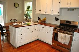 l shaped brown painted wooden kitchen cabinets modern kitchen