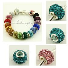 rhinestone bracelet charms images 100pc rhinestone large hole beads for fit charms bracelets wholesale jpg