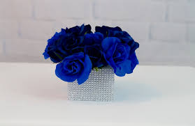 blue centerpieces 3 royal blue wedding or quincenera centerpiece ideas for 10