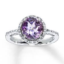 silver amethyst rings images Kay amethyst ring round cut with diamonds sterling silver jpg