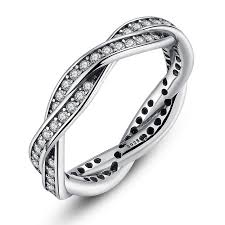 wedding rings pave images Twist of fate braided pave silver rings with cubic zirconia best jpg