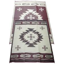 Home Depot Patio Rugs by Fireside Patio Mats Navajo Breeze Burgundy And Beige 9 Ft X 12 Ft
