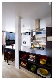 kitchen island post one structural column in kitchen island for the home