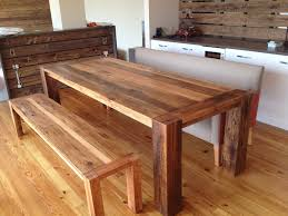 reclaimed wood dining table with bench with ideas photo 2575 zenboa