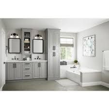 home depot kitchen wall cabinets with glass doors hton bay designer series elgin assembled 36x30x12 in