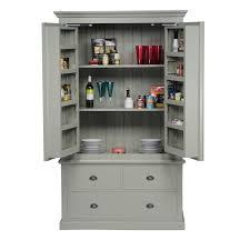 Freestanding Kitchen Furniture Mottisfont Painted Larder Unit Blue Metal Larder Unit