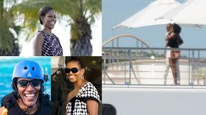 barack and michelle obama pose on billionaire david geffen u0027s