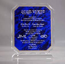 Personalized Wedding Plaque Wedding Invitation On Acrylic Plaque Acrylic Wedding Gifts