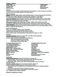 Sample Mechanical Design Engineer Resume Mechanical Design