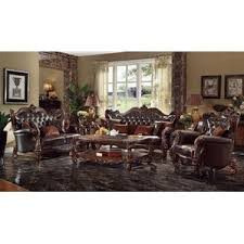 Leather Living Room Sets Youll Love Wayfair - Living room set
