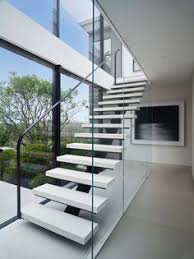 Interior Design Stairs by Modern White Oak And Steel Staircase Luxe Halls Stairs