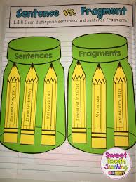 grammar u0026 language interactive notebook sentence fragments