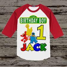 sesame birthday sesame birthday shirt boy s sesame