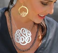 2 inch monogram necklace 12 best io monogram necklaces images on