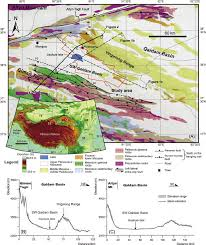 Kunlun Mountains Map A Simplified Geological Map Of The Western Qaidam Basin With