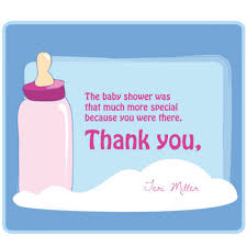 Baby Shower Save The Date Custom Periwinkle Blue And Candy Pink Baby Bottle Theme Thank You