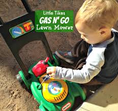 Backyard Toddler Toys Little Tikes Gas N Go Lawn Mower Push Toys Lawn Mower And Lawn