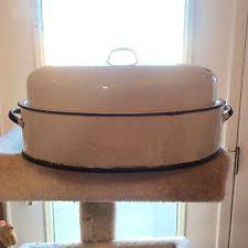 savory roasting pan enamel roasting pan vintage ebay