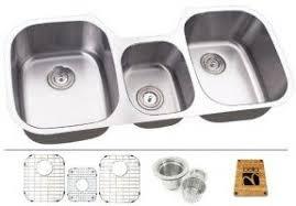 Triple Basin Kitchen Sink by Triple Bowl Undermount Sink Foter